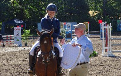 Elisa Sanmann ist mit Kalle Cool Siegerin Prüfung Nr. 1